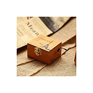 CYDKZMEPA Wooden Music Box Children Musical Hand Tool Music Boxes for Christmas Happy Birthday New Year Gift Toy Home Decoration - ASDFG