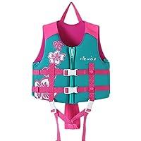 Zilee Kids Swim Vest Float Jacket - Boys Girls Float Vest Swimming Suits Adjustable Safety Strap Training Aid For 1-9 Years Blue Pink