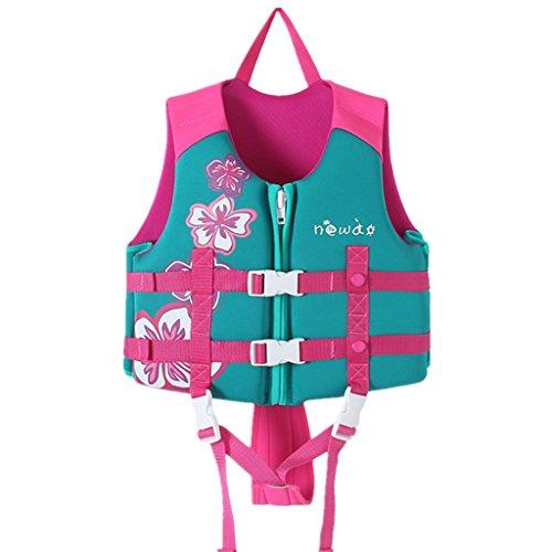Zilee Kinder Schwimmweste Schwimmen Badeanzug - Jungen Mädchen Schweben Bademode Einstellbar Schwimmen Lernen Schwimmbad Tauchen Strand Surfen Sicherheitsgurt Rosa Blau