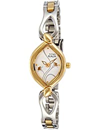 Titan Raga Analog Silver Dial Women's Watch - NE2455BM01