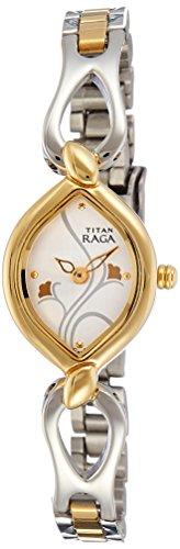 Titan Raga Analog Silver Dial Women\'s Watch - NE2455BM01