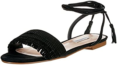 Cortefiel Flat Fringes Sandal, Sandalias para Mujer