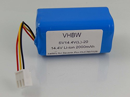 vhbw Li-Ion Akku 2000mAh (14.4V) für Home Cleaner Heimroboter Severin Chill RB-7028, RB7028
