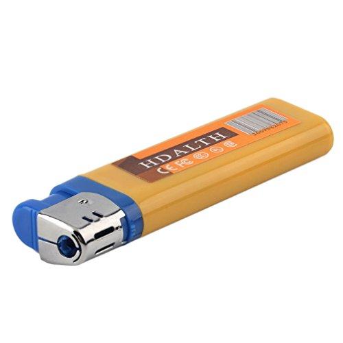 Mengshen® Más Claro Oculto Agujero cámara cámara más Ligera Mini DV DVR Grabador de vídeo Digital portátil de mechero videocámara Amarillo MS-P6