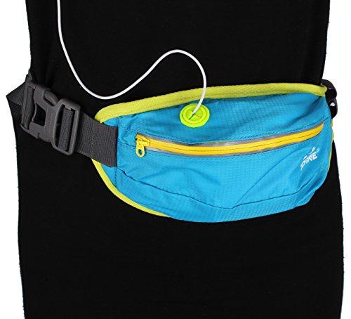 Liang Gürtel Sport-–Gürtel Running Wasserdicht Gürtel Running Reflektor Multifunktionale für Wandern, wandern, Joggen–Grün Blau