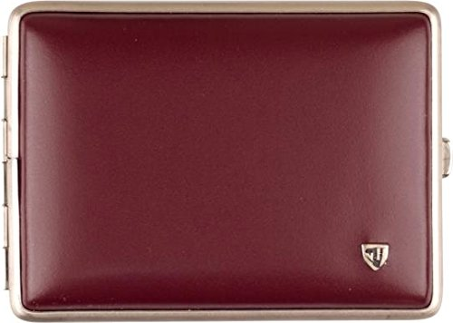 Sigaretta morbida-in pelle rossa Telaio in nichel opaco 100 mm/18