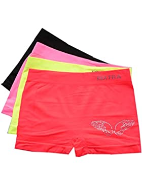 Girls Glitzer Panty 4er Pack Wings Seamless Farbmix
