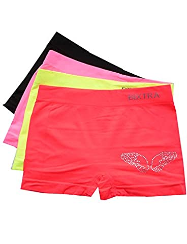 Girls Glitzer Panty 4er Pack Wings Seamless Mehrfarbig 140-152