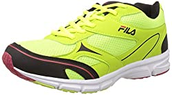 Fila Mens Pronation Lite Black and Lime Running Shoes -7 UK/India (41 EU)