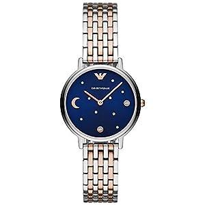 Emporio Armani Reloj para de Cuarzo con Correa en Acero Inoxidable AR80024