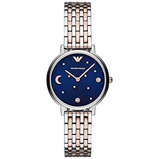 Reloj Emporio Armani para Mujer de Acero Inoxidable en Dos Tonos y Conjunto de Pulsera AR80024