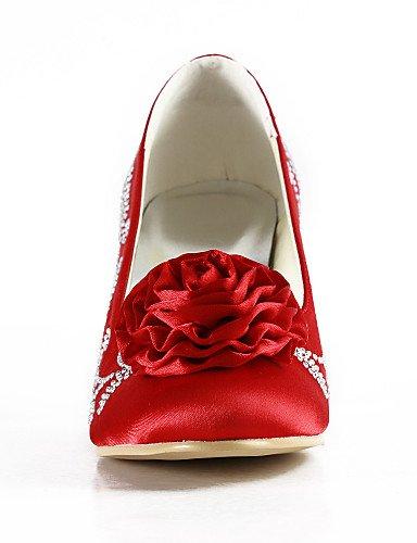 WSS 2016 Chaussures de mariage-Noir / Bleu / Jaune / Rose / Violet / Rouge / Blanc / Argent / Or / Beige / Amande-Mariage / Habillé / Soirée & 3in-3 3/4in-yellow