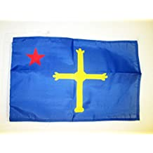 AZ FLAG Bandera de Asturias ASTURINA 45x30cm - BANDERINA NACIONALISTA ASTURIANA - INDEPENDENTISTA 30 x 45
