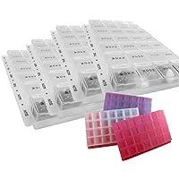 Pill Box Tablettenbox, 1-7-14-28 Tage, getrennte Fächer, Organizer, ideal für Reisen preisvergleich bei billige-tabletten.eu