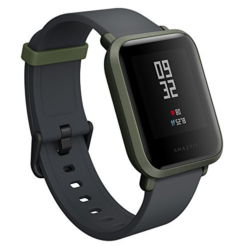 Amazfit Bip Smartwatch with All-Day Heart Rate and Activity Tracking, Sleep Monitoring, GPS, Ultra-Long Battery Life, Bluetooth (Green, A1608 )