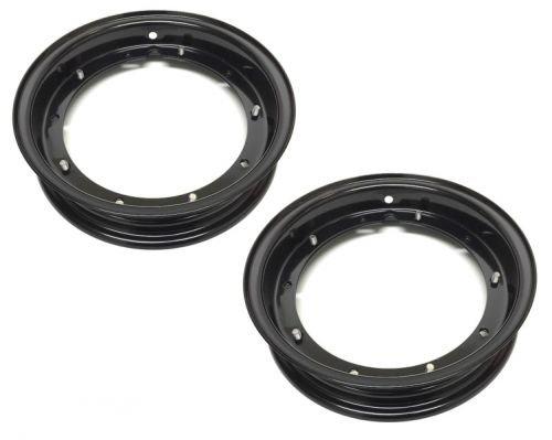 Preisvergleich Produktbild 2x Felge Schwarz 2.10-10 für 3.00 / 3.50 - 10 Zoll für Vespa PK PX ET3 V 50 N Special