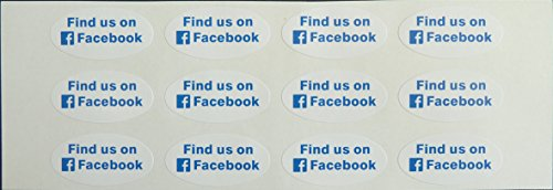 12-promotional-social-media-stickers-find-us-on-facebook-oval-self-adhesive-labels