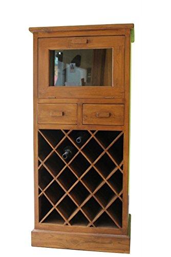 Stilvolles Weinregal aus Teakholz 130cm