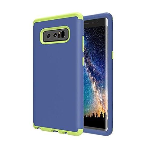 sunnymi Für Samsung Galaxy Note 8 Hülle Case,Neo Hybrid 3 In 1 Ultra Dünne Weiche Silikon + PC Farbenrahmen Dual Layer Schutzhülle,Für Samsung Galaxy Note 8 Case Schlank Bumper Kratzfest Phone Handy (Blau)