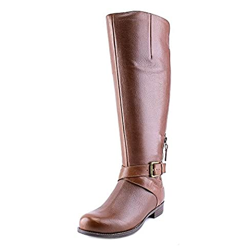 Nine West Corawo Wide Calf Women US 7 Brown Knee High Boot