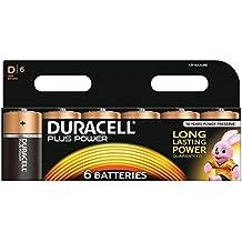 Duracell Plus Power - Pila alcalina (tamaño D, paquete de 6 unidades)
