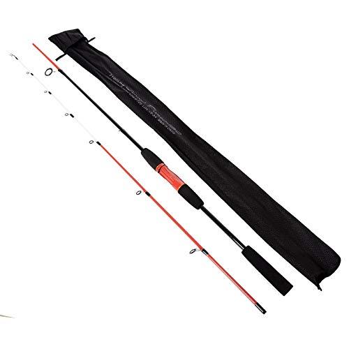 LMEIQUN, 1,8 M Köder Gewicht 6-12 g Ruten Test 4-12 Pfund M Power Red Spinning Casting Köder Carbon Angelrute (Color : Red, Size : 1.8 m)