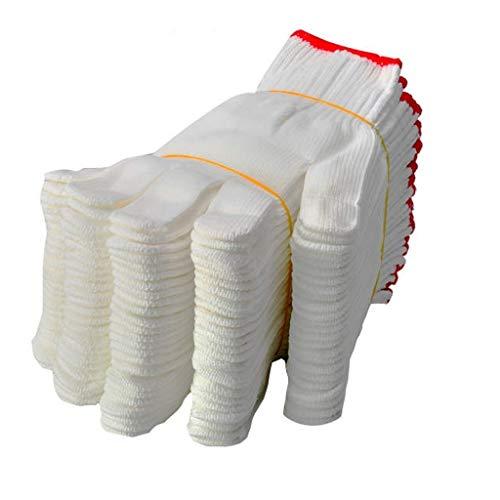 ZXC Home Guanti di Linea Spessi Resistenti all'Usura Guanti da Lavoro Traspiranti protettivi Antisdrucciolevoli for Uomo in Cotone di Nylon