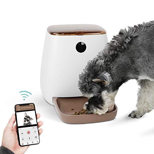 OHANA Alimentador Automático Inteligente para Perros Gatos con cámara HD de 1080P e intercomunicador en Tiempo Real,Temporizador programable en App, Comederos de Gatos automáticos Gran Capacidad 3.3L