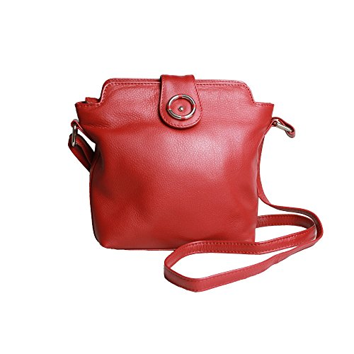Eastern Counties Leather - Penny- Borsa a mano in pelle con dettaglio frontale - Donna Rosso