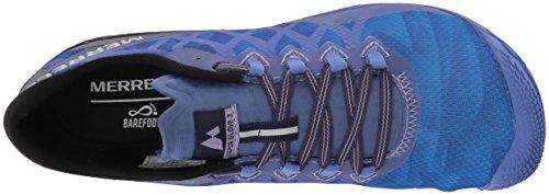 Merrell Vapor Glove 3, Chaussures de Running Femme Bleu (Baja Blue)