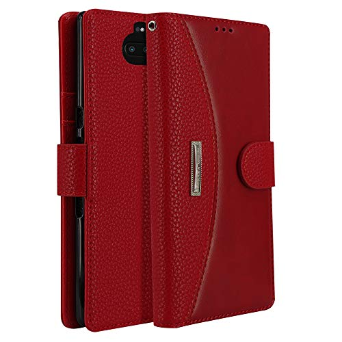 LOKAKA Leder Handyhülle für Sony Xperia 10, Handyhülle Handystand Kartenfächern Luxuri