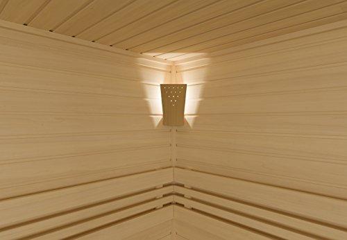 Infraworld LED Lampe Moris Ahorn Saunaleuchte Saunalicht Saunazubehör S2313