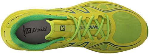 Salomon Sonic Aero, Sneakers trail-running homme Vert (Lime Green/Lime Punch./Classic Green)