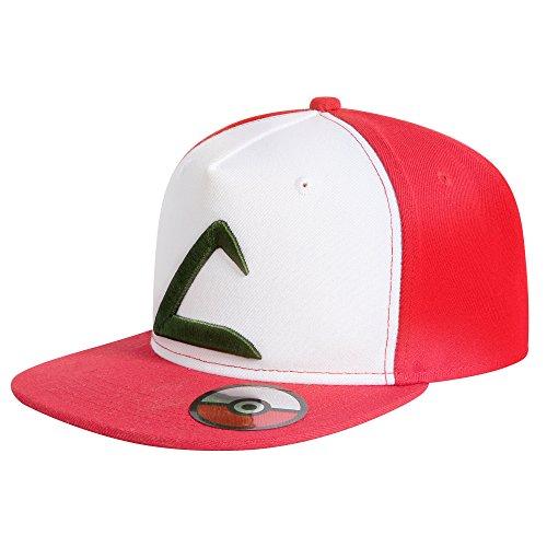 Preisvergleich Produktbild Katara 1751 Pokémon Go Ausrüstung: Ash Ketchum Snapback Base-Cap Mütze für Jugendliche und Erwachsene, Sonstige Spielwaren