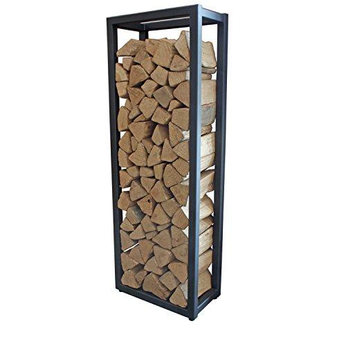 HARK Holzregal klein 50 x 140 x 28 cm mit Stellfüßen schwarz
