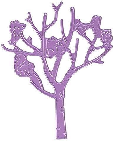 Cheery Lynn Designs Cheery Lynn Designs Die-Birch Tree W/ Cute Critters, 5.37-inch x 4.37-inch, Other, Multicoloured
