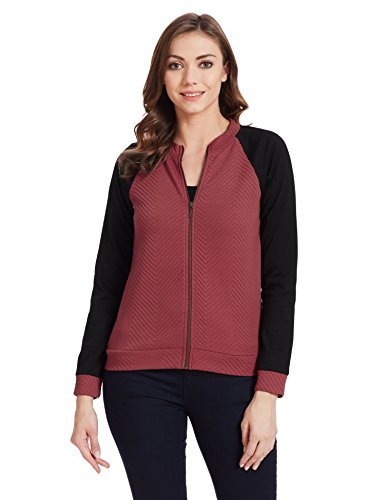 United Colors of Benetton Women's Sweatshirt (16A3CH5E9733I902S_Wine and Black)