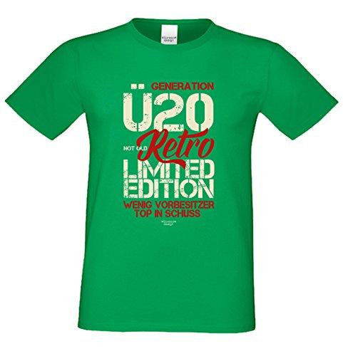 Geschenk zum 20. Geburtstag :-: Geschenkidee für Männer und Frauen :-: Geburtstags Sprüche T-Shirt :-: Geburtstagsgeschenk Überraschungs-Geschenk für Sie und Ihn :-: grün_15