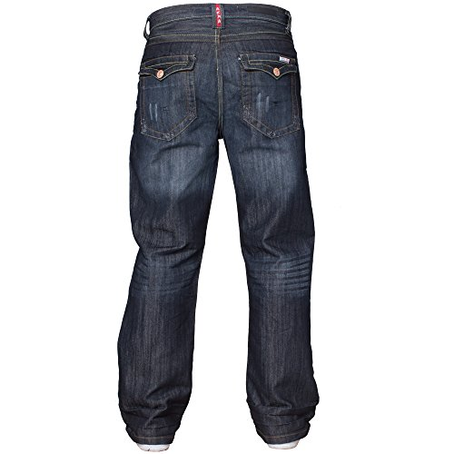 Mens New Apt Bootleg Branded Jeans King Size Boot Cut Fit Pants Jeans Size 28-48