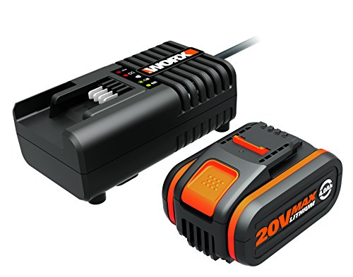 WORX WA3604 Akku mit Akku Ladestation: 20V - 4000mAh Li-Ion Akkubatterie & Akku Ladestation