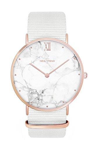 New Trend - Love for Accessories Damen Uhr analog Quarzwerk mit Nylon Armband VZ-TDBB-4AHQ