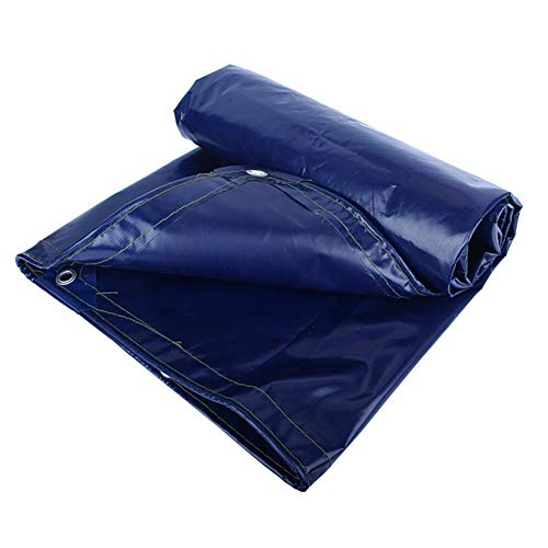 Jsmhh Plane wasserdicht Sonnenschutz Zelt Blatt Dach Kälteschutz Anti-Aging-Polyester, blau, 550G / M & sup2, 18 Größen erhältlich (Color : Blue, Size : 5X6M)