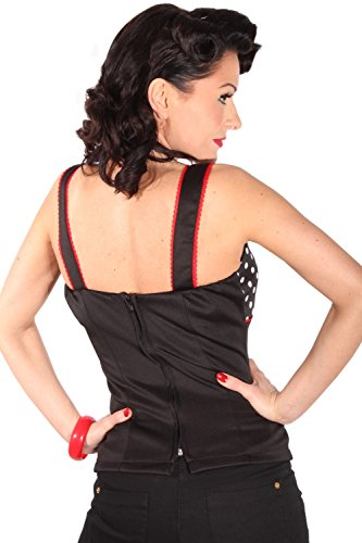 Polka dots rockabilly pin up Punkte Corsage Träger TOP Shirt incl Pads -