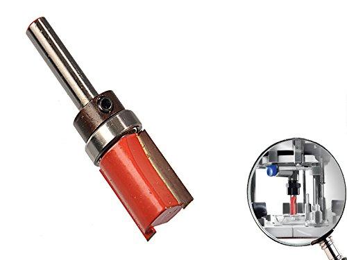 """Kopierfräser Hartmetall 8 mm Schaft 3/4\"""" x 1\"""" x 3/4\"""" Schneide für Frässchablone"""