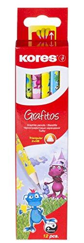 Kores Bleistift Grafitos Fantasy graphit Bleistift, HB, weich, dreieckig (12Stück)