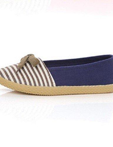 ShangYi Scarpe Donna - Mocassini - Casual - Comoda / Punta arrotondata / Chiusa - Piatto - Di corda - Blu / Verde / Rosso , blue-us6.5-7 / eu37 / uk4.5-5 / cn37 , blue-us6.5-7 / eu37 / uk4.5-5 / cn37 Blue