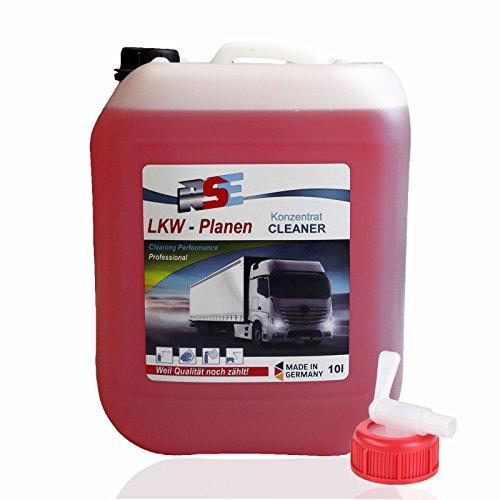 RSE Nutzfahrzeug Reiniger Zeltplanenreiniger Planenreiniger LKW Reiniger Konzentrat 10l + Auslaufhahn