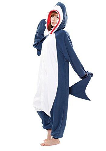 Sazac Kigurumi Hai Haifisch Pyjama Kostüm Overall