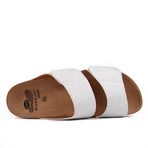Scholl Aalim White Canvas Beige