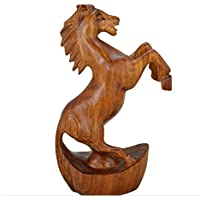 decorazioni per la casa Redwood Crafts Carving a mano Cavallo Soggiorno Studio Arredi Regalo , 21*9*35 - Anatra Carving